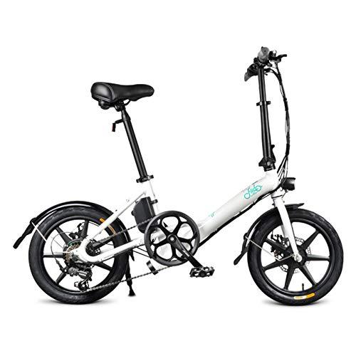 FIIDO D3S Vélos Électriques 16 Pouces pour Adultes, Vélo Électrique Pliant pour Banlieue Urbaine, Vitesse Maximale 25 Km/h, Batterie Rechargeable de 7,8 Ah, Reçu dans Les 5-7 Jours (Blanc)