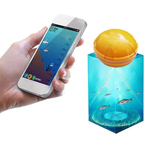 awstroe Fishfinder, Telefono Cellulare Wireless 36M Sensore Ecoscandaglio Eco Fishfinder Fishfinder Fish Detect per iOS App Android
