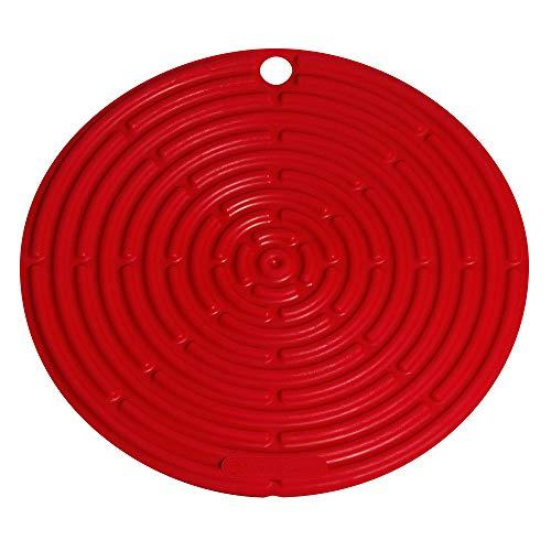 Le Creuset Sottopentola, Presina in Silicone con Occhiello, Rotondo Classic, Silicone, Rosso (Ciliegia), Diametro: 20 cm
