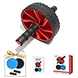 Shegbbf Sturdy Ab Roller Wheel, Ab Roller for Abs Workout, Ab Roller Kit with Exercise Core Sliders for Men Women Abdominal Exercise, Ab Wheel Exercise Equipment, Ab Wheel Roller for Home, Gym