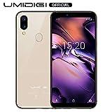 UMIDIGI A3 (2019), Smartphone Pas Cher 4G Ecran 5,5 Pouces Android 9.0 Pie, 2 Nano SIM + 1 MicroSD Téléphone Portable Débloqué, Quad-Core MT6739, 2Go + 16Go (Extensible à 256Go), Batterie 3300mAh - Or