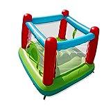 EuroToys Brincolín Inflable para niños! Casa del Brinco, No Requiere Aire Continuo! Se infla en Tan Solo 3 Minutos, con Abanico Integrado.