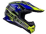 Vega Helmets Unisex-Child Youth Off Road Helmet (Blue Stinger Graphic, Large)