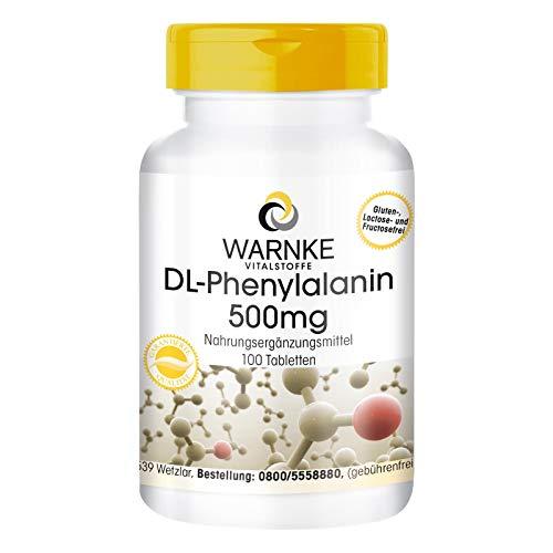 DL-Phenylalanin 500mg - hochdosiert & vegan - 100 Tabletten