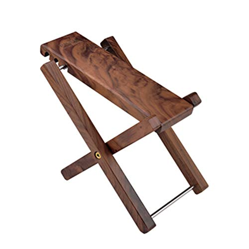 Heqianqian Guitar Footstool Guitar Bass Erhu Pedal Three-step Solid Wood Footstool Adjustable Step Solid Wood Folding Portable Four-step Stool for Guitar Equipment (Color : Wood, Size : 23x7cm)