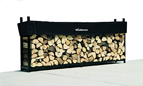 10 Foot Firewood Log Rack with Cover