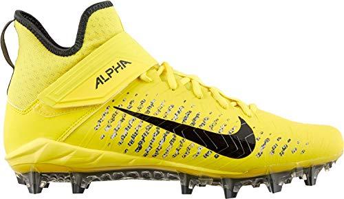 Nike Men's Alpha Menace Pro 2 Mid Football Cleats (12, Opti Yellow/Black/Anthracite)