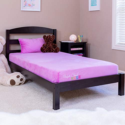 Perfect Cloud Kids Signature 7-inch Memory Foam Twin Mattress and Memory Foam Pillow for Day/Trundle/Bunk Bed (Pink) – Free Memory Foam Teddy Bear Included