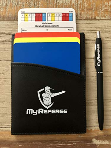 My Referee Schiedsrichterset Mini Handball inkl. Spielnotizkarten, Kugelschreiber, Disziplinarkarten | Schiedsrichter-Set | Schiri