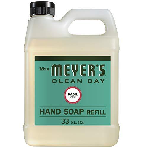 Mrs. Meyer's Clean Day Liquid Hand Soap Refill, Basil, 33 fl oz