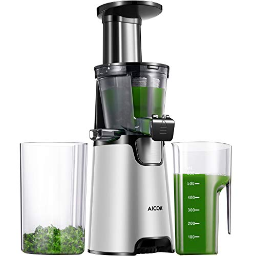 Aicok Juicer Auger Slow Masticating Juicer for Smooth and...