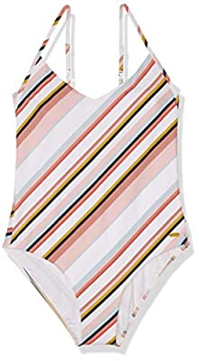 Fabric: Soft, resistant stretch fabric Shape: Fashion one-piece shape Coverage: Full coverage Padding: Removable pads Straps: Adjustable ring & slider straps
