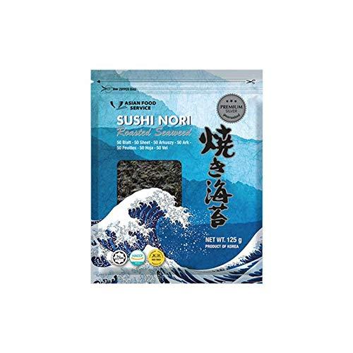 Hojas de nori para sushi - 50 unidades