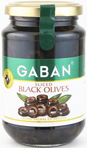 ギャバン ブラックオリーブ スライス 160g瓶