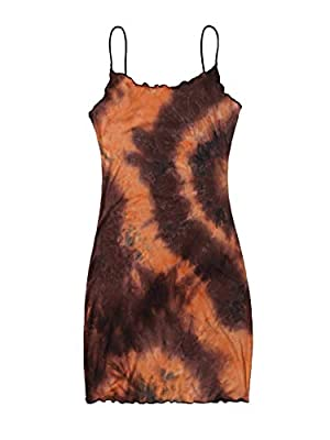 Sleeveless pencil short dress, make you stand out in the crowd. Features: spaghetti strap, ribbed knit bodycon cami dress, strappy, high waist, slim fit, casual frill trim mini dress. Pencil dresses can match with chain, scarf, beach hat, belt, jeans...