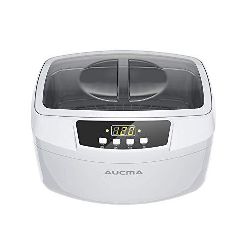 Ultrasonic Cleaner, Professional 160 Watts 2.5L Heated Ultrasonic Jewelry Cleaners Machine with Digital Timer, 2.6Qt/2.5 L (White)