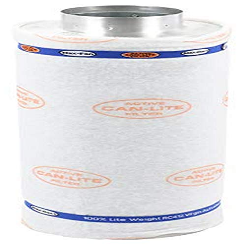 Can Lite Carbon Filter With Pre Filter, 6-Inch 600 Cubic Feet Per Minute