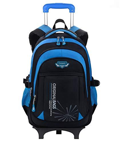 Fanspack mochila escuela con ruedas niño Mochilas con carro para niños de los grados 2-6 bolsa para la escuela con ruedas Mochilas escolares para niños