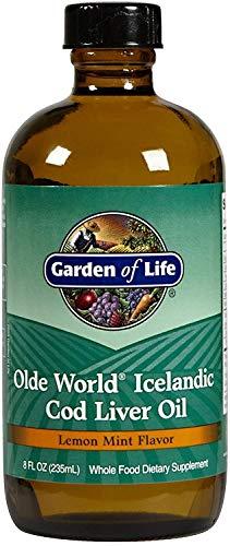 Garden of Life, Olde World, Huile de foie de morue islandaise, Cod liver oil, Arôme citron menthe, 236 ml
