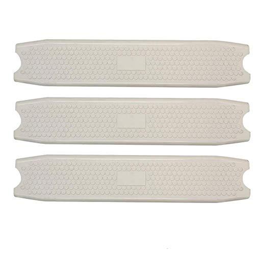 Teckey 3 Stück Schwimmbad-Pedal, Schwimmbad-Pedal, geformter Kunststoff, Ersatzleiter, Sprossenstufen für eingelassene Schwimmbecken, weiß, rutschfest
