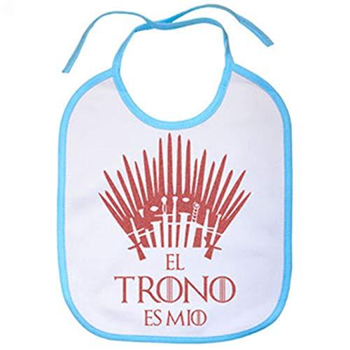 Babero Game Of Thrones Juego de Tronos El trono es mío - Blanco