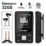 Lecteur MP3, Mini Lecteur MP3 Bluetooth Sport avec Kingbox 32Go, HiFi Portable sans Perte,128 Go de...