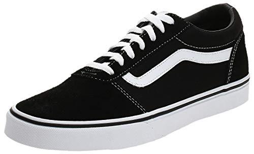 Vans Ward Canvas, Zapatillas Hombre, Negro ((Suede/Canvas) Black/White C4R), 41 EU