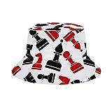 Yuanmeiju Cubo de Sombrero para el Sol Style Men Women Foldable Sombrero de Playa de Pescador Sun Protection Chess