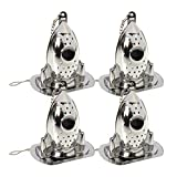 EOPER Stainless Steel Tea Infuser Mesh Strainer, 4 Pieces Novel Rocket Shape Tea Infusers Steepers for Loose Tea Herbal Spice, Funny Filters Tea Interval Diffuser Strainer with Drip Tray Silver