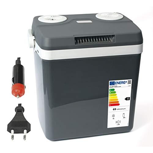 Dino KRAFTPAKET 131001 Kühlbox 12V 230V (WÄRMT & KÜHLT) HÖHE: 44cm GRÖSSE: 32-Liter (28L netto) Elektrische Kühlbox für Auto Boot Camping, A++ mit ECO-Modus