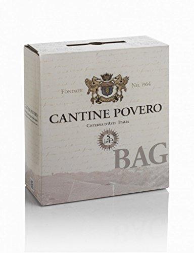 Bag in Box 5 lt. Cantine Povero - Vino rosso da uve Bonarda