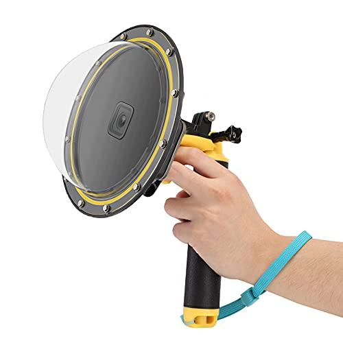 JYPS Dome Port per GoPro Hero 9 Black, Dome port con Custodia impermeabile + galleggiante Impugnatura + Pistola a grilletto + Inserto antinebbia per GoPro Hero 9 Black
