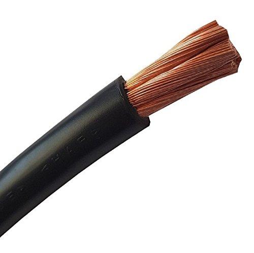 Batteriekabel - Aderleitung – SCHWARZ - H07V-K 6-10 - 16-25 - 35-50 - 70 oder 95 mm² - Batterie Kabel 100% OFC Kupfer - Meterware - 6mm2-10mm2-16mm2-25mm2-35mm2 + 50mm2-70mm2-95mm2