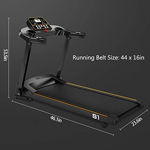 【Shipping from US】Foldable Electric Running Machine High Power 2.0HP Treadmills with LCD Display Screen for Indoor Sport, Low Noise,Home Exercise 7