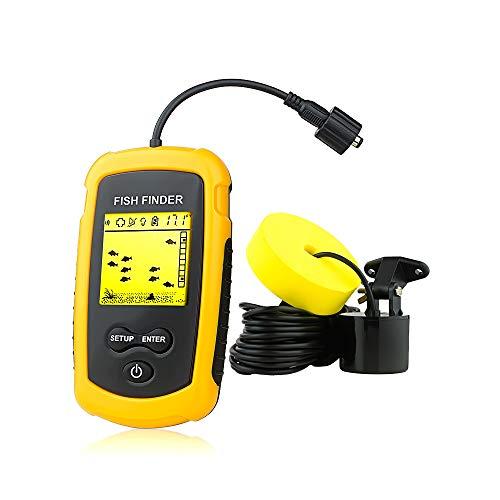 Venterior Portable Fish Finder Handheld Fishfinder Fish Depth Finder Fishing Gear with Sonar...