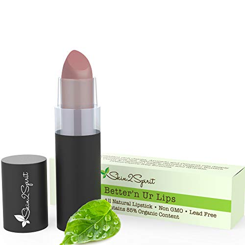 Better'n Ur Lips (MAUVE SUEDE) Vegan Lipstick | 100% Natural | Organic | Gluten Free | Cruelty Free | Vegan | Lead Free | Paraben Free | Petroleum Free | Healthy Color that's Good for your Lips!