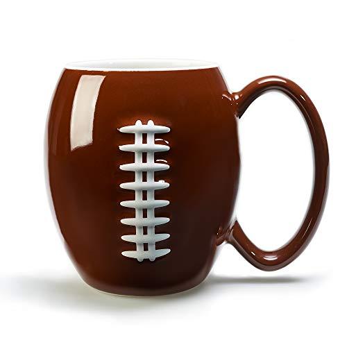 40YARDS American Football Tasse mit erhabener, fühlbarer Football Naht (600 ml) für Kaffee, Tee,...