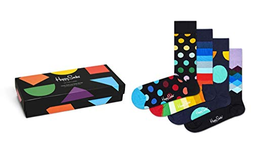 Happy Socks 4 Pack Gift Box Calzini, Multi, 36-40 Unisex-Adulto