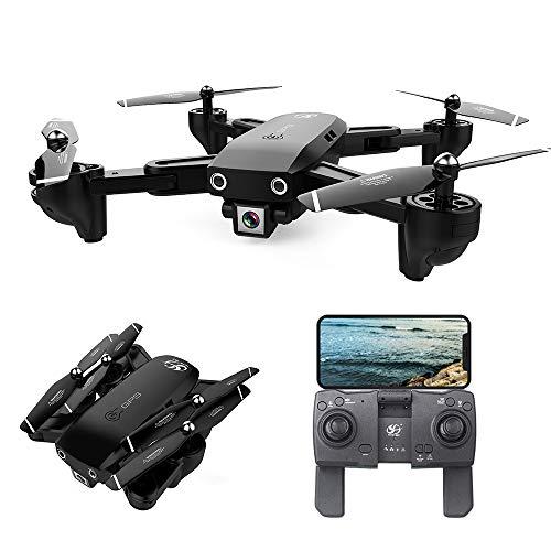 Mobiliarbus CSJ S166 GPS Drone con Telecamera 720P Seguimi Ritorno Automatico Home WiFi FPV Foto di gesti Live Video RC Quadcopter per Adulti