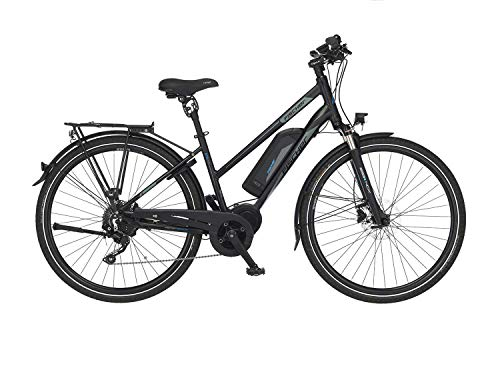 Fischer Herren E-Bike Trekking ETH 1861.1, schwarz matt, 28 Zoll, RH 50 oder 55 cm, Mittelmotor 80 Nm, 48 V Akku, Rahmenhöhe 50 cm