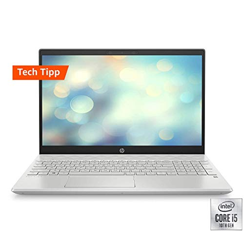 HP Pavilion 15-cs3223ng 41,09 cm (15,6 Zoll / Full HD) Laptop (Intel Core i5-1035G1, 8GB DDR4 RAM, 32GB Intel Optane, 512GB SSD, Nvidia GeForce MX250 2GB GDDR5, Windows 10 Home) silber