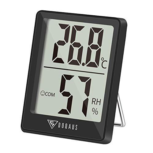 DOQAUS Mini Termómetro Higrómetro Digital, Medidor de Temp