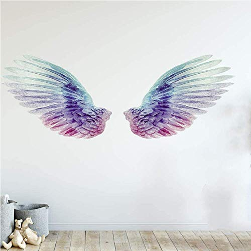 Everyglow Glowing Angel Wings Wall Decals, for Bedroom Kids Wall Decor , Easy to Peel and Stick Wing Wall Art Home Decorations Party Supplies Wall Decor(2 pcs)