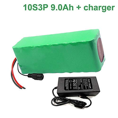 Seilylanka 36V 9Ah 10S3P Li-Ion Pacco Batteria E-Bike Bicicletta elettrica Ebike con Caricabatterie