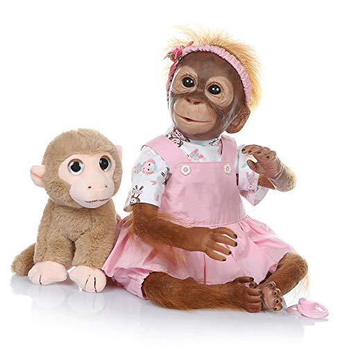 Pinky Reborn Baby Dolls 21Pulgadas Mono de Bebé Recién Nac