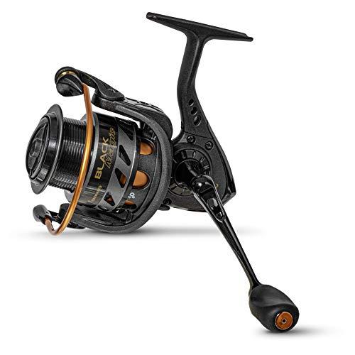 Browning Black Magic MSF 340 - Mulinello da pesca professionale con manovella in acciaio inox CNC, potenza frenante fino a 10 kg e 3 cuscinetti a sfera, colore: Nero/Arancione
