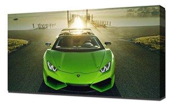 Novitec Lamborghini Huracan Spyder N Largo 4K Canvas Print/Wall Art/Wrap, Canvas, 60 x 90 x 5 cm