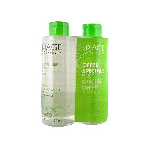 Uriage acqua Micellare termale per pelli miste e grasse, 500ml, confezione da 2