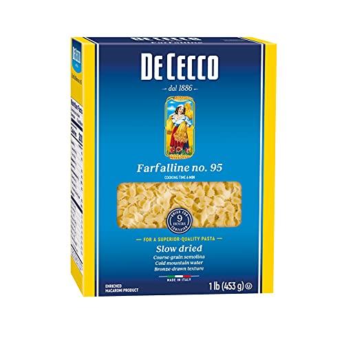 De Cecco Semolina Pasta, Farfalline No.95, 1 Pound (Pack of 5)
