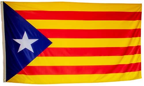 esvendio Bandera Independentista Catalana, Estelada Blava Grande Exterior 150 x 90 Centímetros